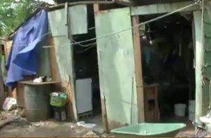 Los residentes de este lugar registran un caso de extra pobreza. Foto/Diómedes Sánchez