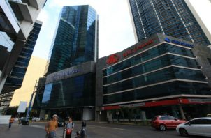 Centro bancario de Panamá.
