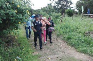 El infante fue sacado de la casa ubicada en Sajalices de Chame.