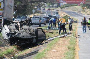 El impacto entre los vehículos fue frontal. Foto: Eric A. Montenegro.