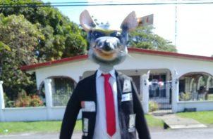 Un político con cabeza de rata en Bejuco, Chame. Foto: Eric A. Montenegro