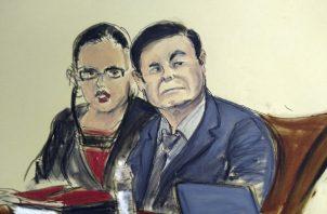 """De ser encontrado culpable Joaquín """"El Chapo"""" Guzmán enfrenta una condena de cadena perpetua. FOTO/AP"""