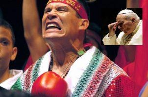 Julio César Chávez estuvo en el Vaticano luego de perder su invicto. Foto EFE
