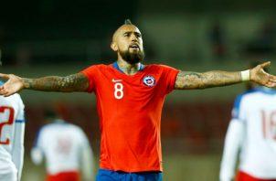 Arturo Vidal, uno de los referentes del seleccionado chileno. Foto EFE