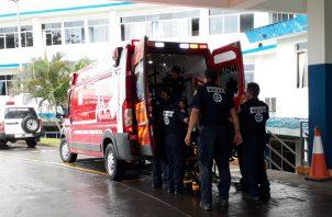 El ciudadano de unos 66 años fue impactado por un busito. Foto/José Vásquez