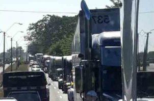 Los transportistas panameños luchan contra las prácticas desleales de los centroamericanos.