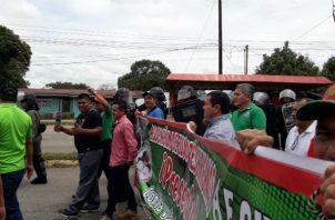 Los docentes de Camarón y la comunidad estuvieron en una manifestación de varios días en la comarca Ngäbe-Buglé.