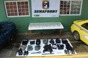 Las evidencias incautadas en el operativo realizado en la provincia de Chiriquí.