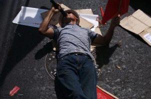 Los jubilados aseguran que cerrarán las calles las veces que sean necesarias. Foto/José Vásquez