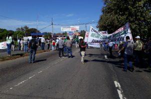 La protesta de los productores en Chiriquí, obedece al poco interés que ha mostrado el gobierno. Foto: José Vásquez.