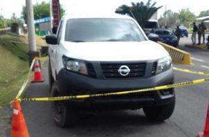 Los implicados fueron puestos a ordenes de las autoridades del Ministerio Público al igual que el vehículo robado. Foto/Mayra Madrid