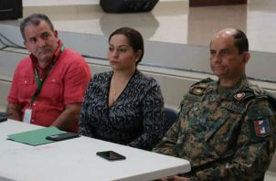 La gobernadora de Chiriquí Aiveth Montenegro quien sostuvo una reunión con los diferentes estamentos de seguridad y organizadores de la JMJ para Chiriquí.