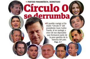 Varelistas llevarían sobre sus hombros la estrepitosa derrota del Partido Panameñista. Gráfica: Maurilio Mora.