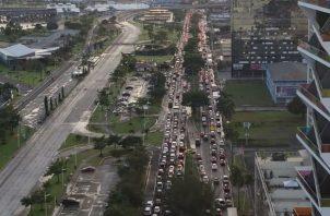 Colapso y caos vehicular en la capital por la visita del presidente chino Xi Jinping. Foto: Panamá América.