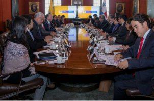 Canciller Alejandro Ferrer lideró reunión en Colombia. @CancilleriaPma