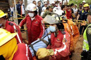 El pasado 11 de octubre, otro deslizamiento generado por un fuerte aguacero en el municipio de Marquetalia, en el departamento de Caldas (centro), dejó 12 muertos.