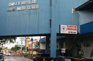 El herido fue llevado al cuarto de urgencias del complejo hospitalario Dr. Manuel Amador Guerrero en Colón.