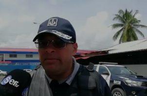 Elmer Castillo, oficial de la Policía Nacional en Colón.