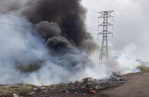 El pasado 21 de enero también hubo un incendio en el área. Foto/Diómedes Sánchez