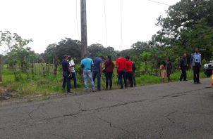 Pasadas las 3:00 p.m, personal de criminalística, se trasladó al lugar, para iniciar las investigaciones del caso. Foto/Diómedes Sánchez