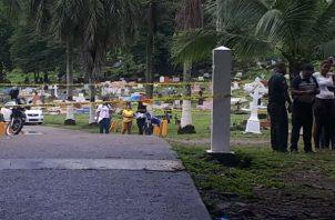 El crimen fue en el cementerio de Nueva Esperanza. Foto: Diómedes Sánchez.