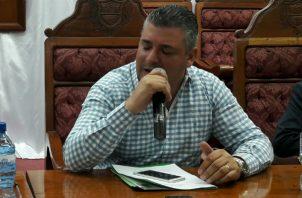 El ex alcalde de Colón, Federico Policiani fue detenido la mañana de este sábado tras una denuncia de su esposa Ariana de Policani. Foto: Diómedes Sánchez S.