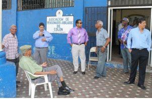 Baudilio Camarena, miembro de la Asociación de jubilados de Colón señaló que ellos piden un aumento actualmente y que sus pensiones sean revisadas cada dos años.