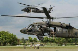 Tropas del Comando Sur llegan en Panamá, participan en una operación binacional en Darién. Foto: Panamá América.
