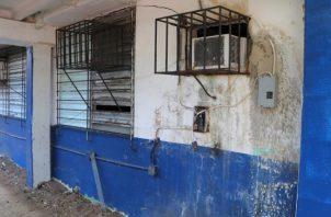 Imagen de cómo se encuentra parte de la estructura del  instituto Fermín Naudeau. Foto de Cortesía
