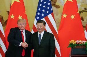 Trump y su homólogo chino, Xi Jinping, acordaron una tregua comercial de 90 días. EFE Archivo