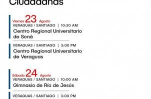 Agenda para la provincia de Veraguas. Imagen de la Asamblea Nacional