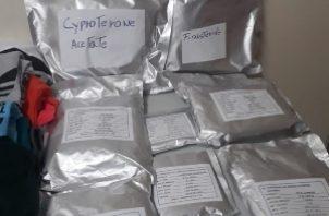 Estos productos se le decomisaron a un ciudadano de nacionalidad colombiana. Foto/José Vásquez