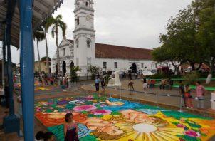 Alfombras del Corpus Christi. Foto: Panamá América