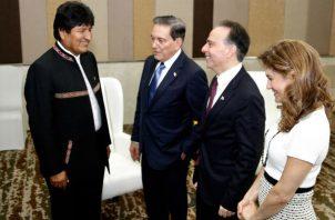El presidente Laurentino Cortizo se reunió durante las últimas horas con representantes de diversas delegaciones.