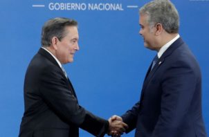 El pasado 1 de julio Iván Duque asistió a la investidura del presidente de Panamá, Laurentino Cortizo, Foto/EFE