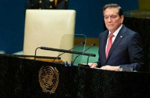 Laurentino Cortizo ante la Asamblea General de la ONU. Foto de cortesía