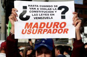 Desde Colombia, venezolanos se unieron al rechazo a Maduro. EFE