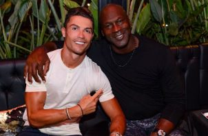Cristiano Ronaldo junto a Michael Jorda en Francia Foto @Cristiano