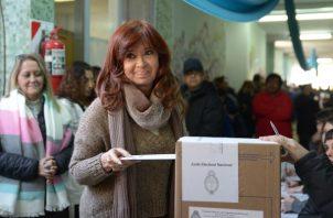 Cristina Fernández, se postuló a la Vicepresidencia, FOTO/AP