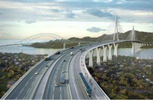 El cuarto puente sobre el Canal de Panamá, que tendría tres paños en ambas direcciones, benficiaría a millón y medio de personas. Foto/Archivo