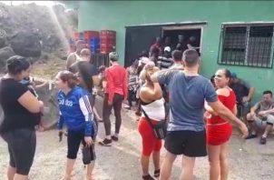 Aseguran que la intensión no es quedarse en Panamá, si no hacer realidad el sueño de llegar a Estados Unidos, donde se reunirán con familiares. Foto/José Vásquez