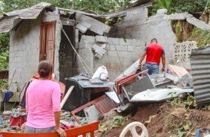 En total fueron 86 viviendas afectadas en Arraiján por las lluvias, granizo y vientos del jueves. Foto de Eric Montenegro