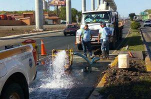 La ciudad de Panamá sin agua por rotura de tubería. Foto/Cortesía