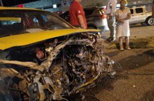 El accidente se da cuando uno de los vehículos involucrados perdió el control en David, Chiriquí.