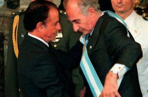 """Fernando De la Rúa, de 81 años y que fue presidente entre 1999 y 2001, había sido hospitalizado """"en estado muy delicado"""" en el instituto Fleni de la localidad bonaerense de Escobar, según allegados del político. FOTO/AP"""