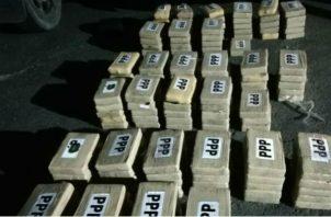 Más de 14.9 toneladas de droga decomisada en costas panameña. Foto/Cortesía