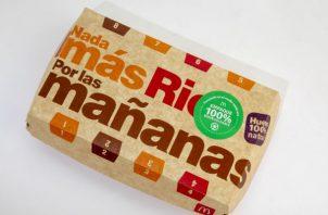 Los desayunos serán entregados en empaques de cartón 100% reciclables y biodegradables. Foto Cortesía