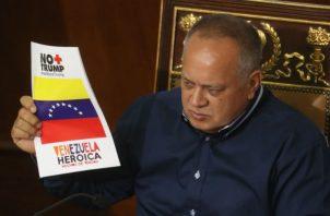 Diosdado Cabello, en la sesión de la ANC este lunes, en Caracas. Foto: EFE.