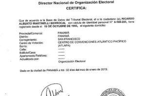 Rechazan por inadmisible la demanda contra candidatura de Ricardo Martinelli. Foto/Cortesía