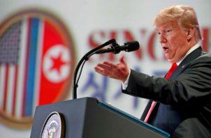Trump ha advertido de que si no se consigue un acuerdo, elevaría los aranceles.  EFE